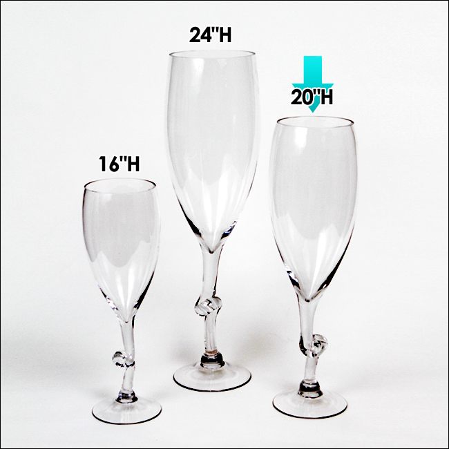 Ea pcs quot h clear wine glass vases wedding